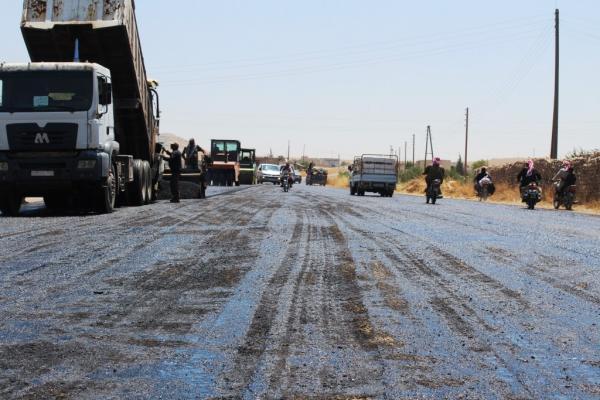 Uluslararası yolun büyük kısmı asfaltlandı