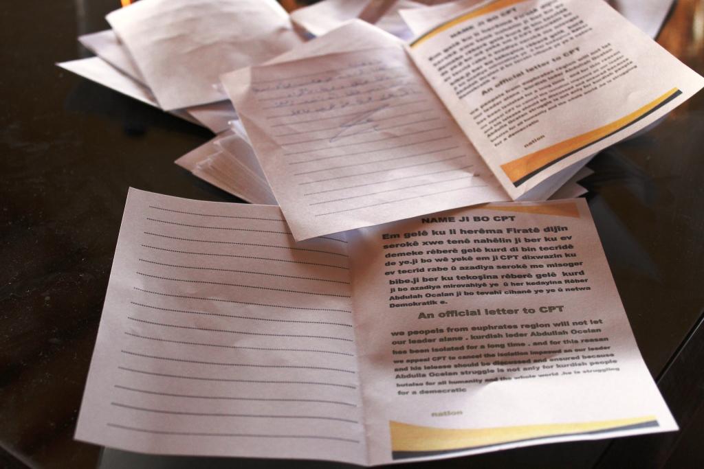 Kobanêli kadınlar Öcalan için CPT'ye mektup gönderdi