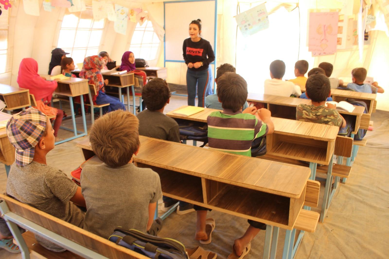 Dêrazorlu çocuklar 7 yıl sonra ders başı yaptı