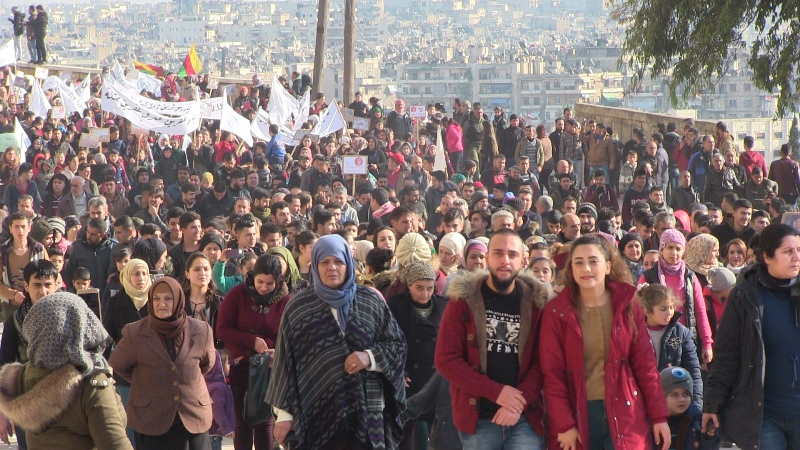 Halepliler Çağın Direnişi'ni selamladı