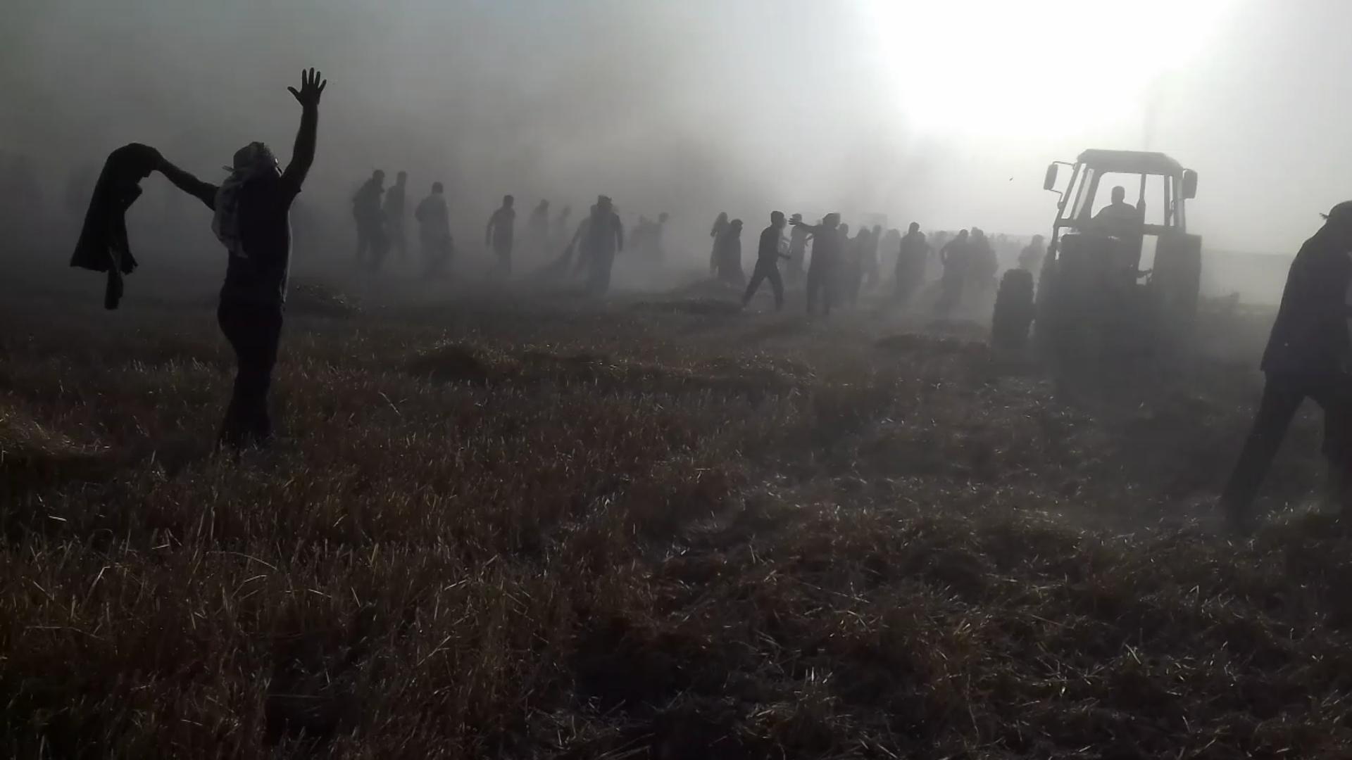 Til Hemis'te yangın: 60 hektarlık alan yandı
