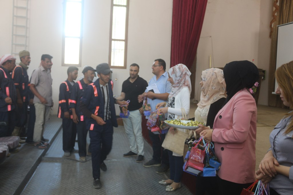 Minbic'de temizlik emekçileri ödüllendirildi