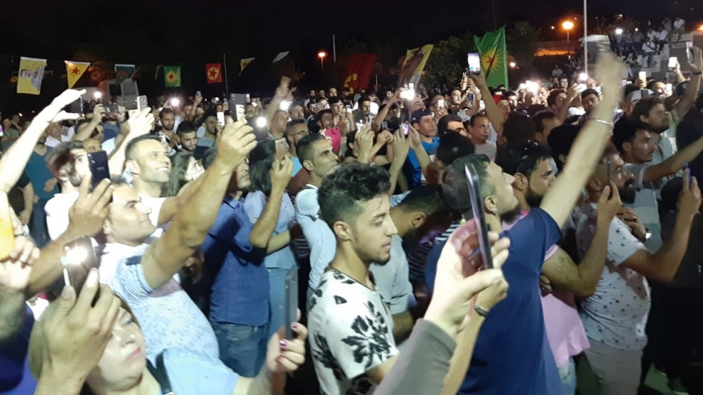 Yunanistan'da Rojava ile dayanışma konseri