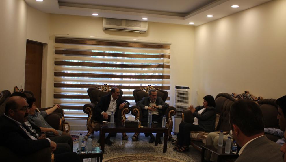 Özerk Yönetim heyetinden KNK'ye ziyaret