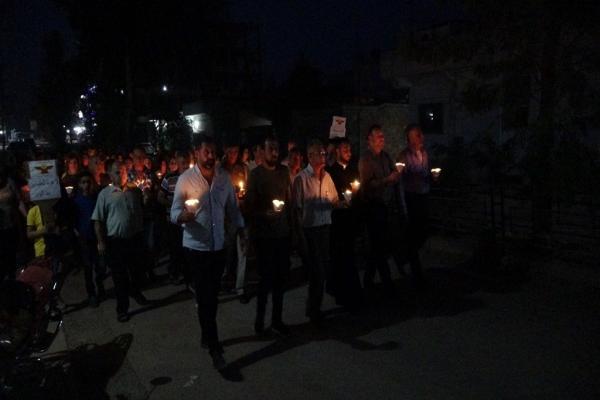 Dêrik'teki Keldaniler işgal tehditlerine karşı yürüdü