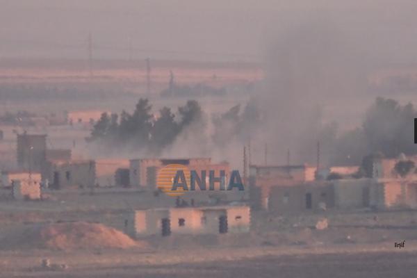 İşgalciler Til Temir'in Um El Kêf köyünü bombalıyor