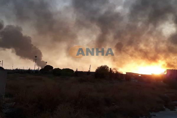 Sivillerin bulunduğu Ûmil Kêf köyü bombalanıyor