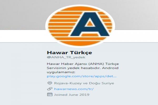 Hawar Türkçe'yi yedek hesabımızdan takip edebilirsiniz