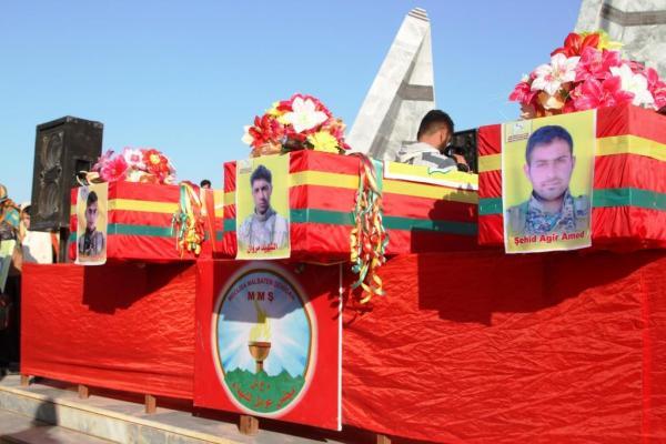 Kobanê'de 4 Onur Direnişi şehidi uğurlandı