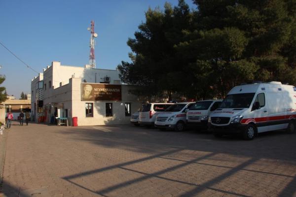 Şehit Lêgerîn Hastanesi çalışanları büyük emek verdi