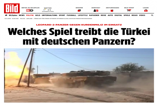 Bild, Türk devletinin Alman tanklarını çetelere verdiğini yazdı