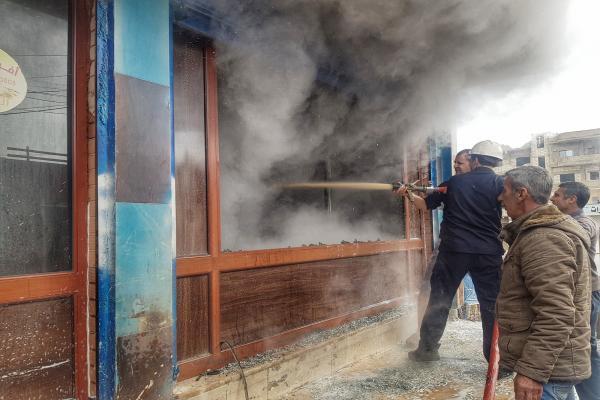 Girkê Legê'de fırında yangın çıktı