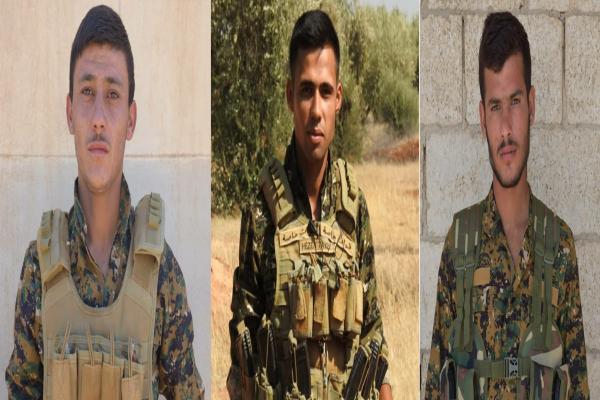 HRE Efrîn'de şehit düşen 3 savaşçılarının kimlik bilgilerini açıkladı
