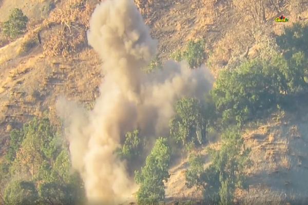 Gerilla TV Xakurke'deki sabotaj eylemin görüntüsünü yayınladı