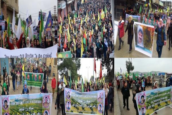 Rojava halkı Efrîn işgaline karşı alanlara aktı - YENİLENDİ
