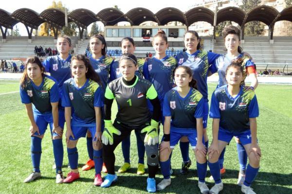Amûdê kadın futbol takımı Suriye ligi şampiyonu oldu