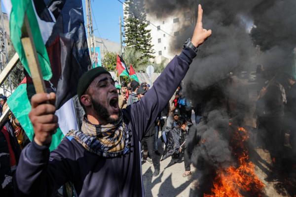 ABD'nin 'Barış planı' öncesi Gazze'de kitlesel protesto