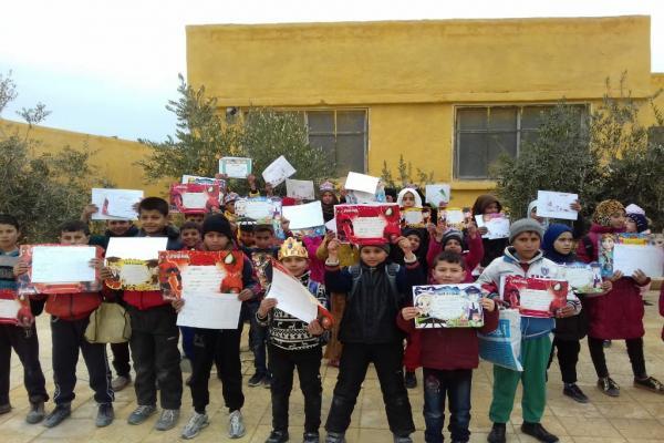 Derazor'da öğrenciler karnelerine kavuştu