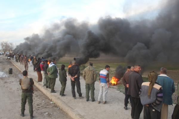Til Berak ve Til Hemis halkı Öcalan için eylemde