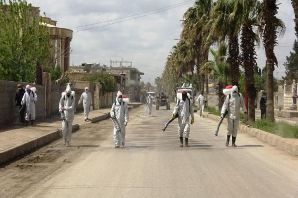 Reqa sokaklarında temizliğe devam