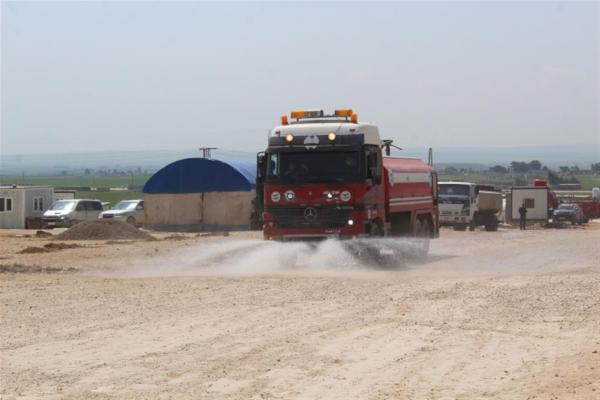 Waşûkanî Kampı dezenfekte edildi