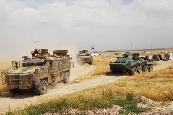 Kobanê'nin doğusunda ortak kara devriyesi