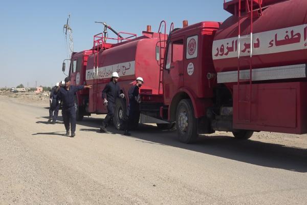 Derazor'un Hecin Belediyesi'ne itfaiye aracı desteği