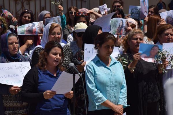 Efrînli kadınlar BM temsilciliği önünde: Acilen harekete geçilmeli