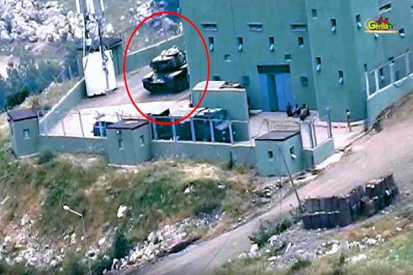 Gerilla TV'den imha edilen tankın görüntüsü