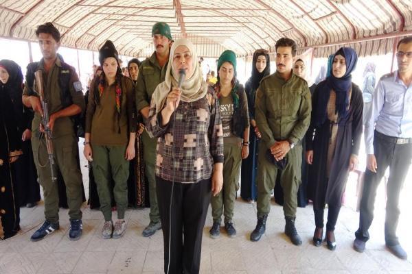Reqa'daki eylem direniş sözüyle tamamlandı