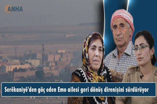 Serêkaniyê'den göç eden Emo ailesi geri dönüş direnişini sürdürüyor