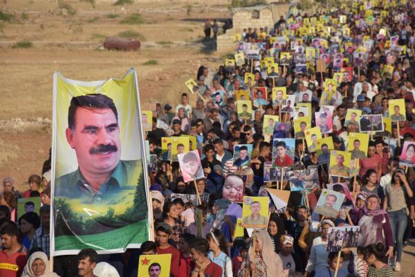 Şehba'da 14 Temmuz yürüyüşü