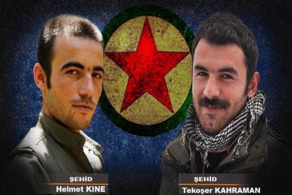 Avaşin'de şehit düşen 2 gerillanın kimliği açıklandı