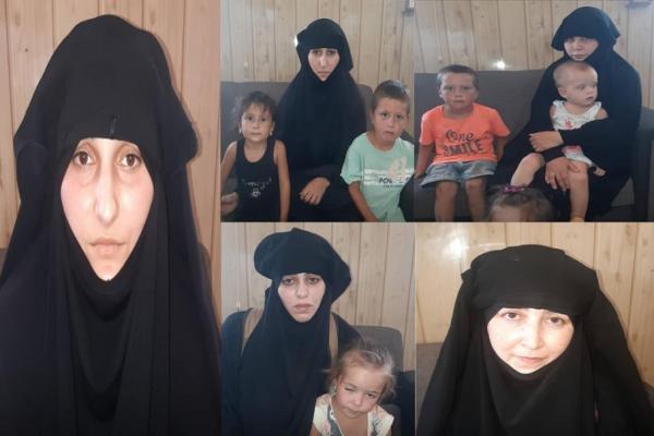 Hol Kampı'nda kaçmaya çalışan 5 DAİŞ'li kadın ve çocukları yakalandı