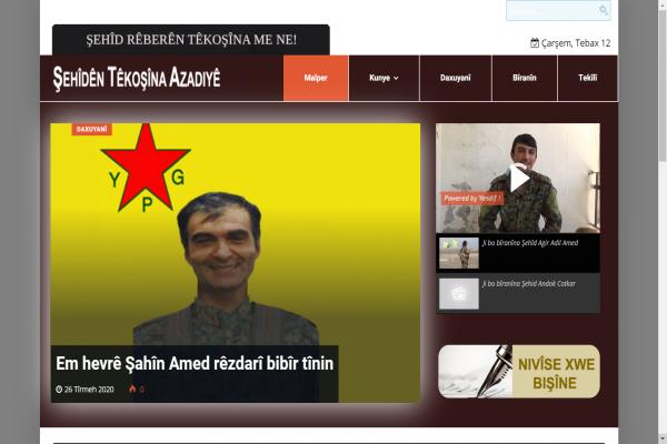 Rojava Şehitleri sitesi yayına başladı