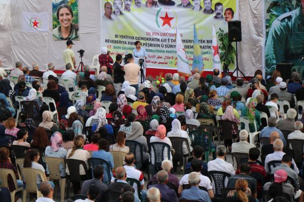 Halep'te PYD'nin kuruluşu kutlandı