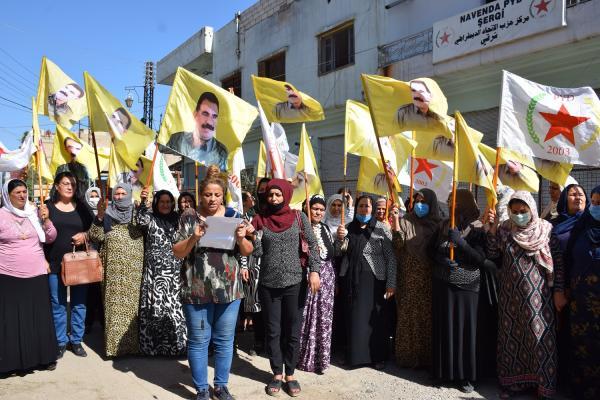 PYD'li kadınlardan kadına dönük şiddeti durdurma çağrısı