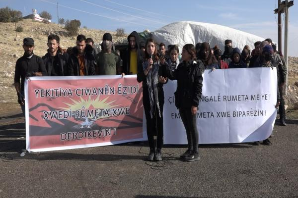 Şengal'deki çadır eylemi tamamlandı
