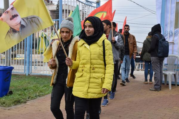 Qamişlo'daki eylem sürüyor