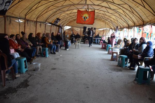 Qamişlo ve Hesekê'de çadır eylemi sürüyor