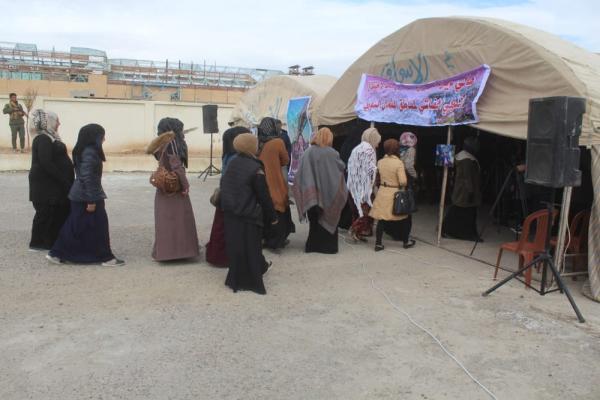 Dêrazor'daki kadınlardan çadır eylemi