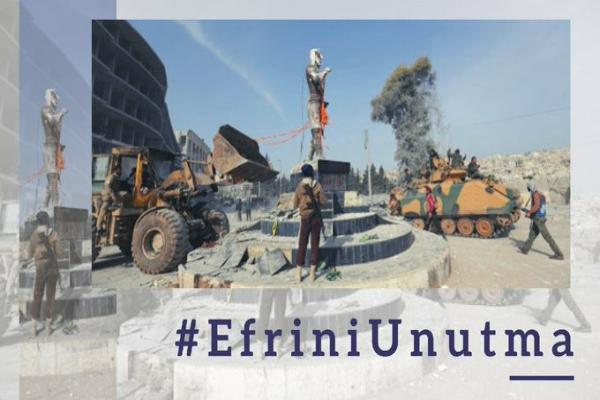 HDP'den 'Efrin'i unutma' kampanyası