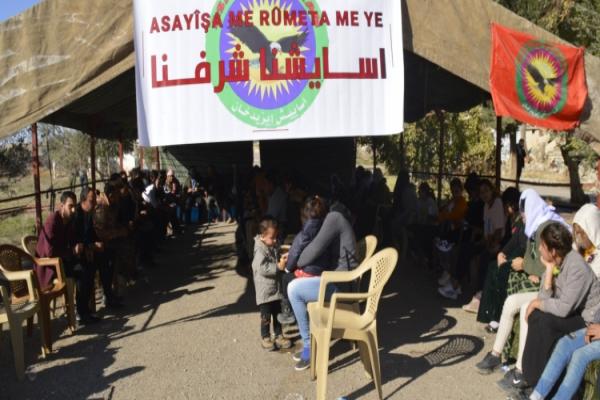 Êzidxan Asayişi'ni sahiplenme eylemi 52'inci gününde