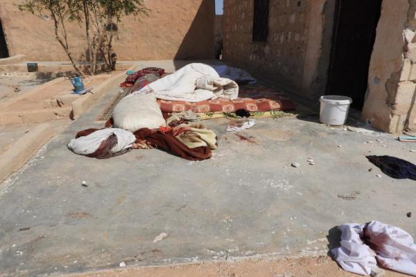 Dibis köyünde meydana gelen hasar görüntülendi