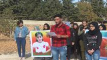 Minbic'te gençler saldırıları protesto etti