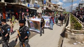 Girkê Legê, Til Koçer ve Dêrik'te halklar Efrîn için alanlardaydı