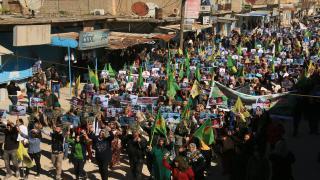 Qamişlo Kantonu, Şêxmeqsûd ve Til Temir'de halk Efrîn için yürüdü